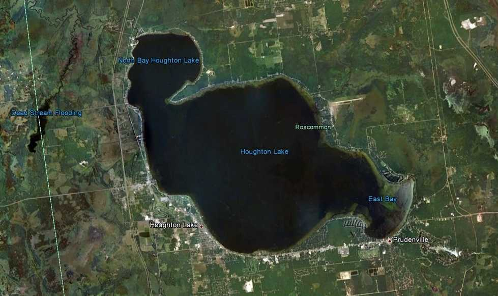 Satellite Image Houghton Lake